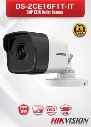 Hikvision 3MP EXIR Bullet Camera - DS-2CE16F1T-IT