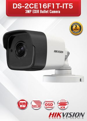 Hikvision 3MP EXIR Bullet Camera - DS-2CE16F1T-IT5