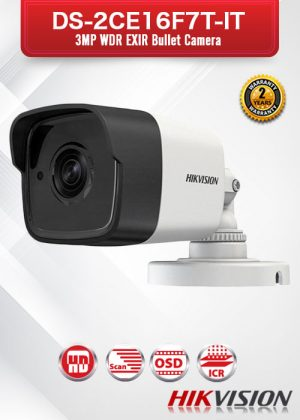 Hikvision 3MP WDR EXIR Bullet Camera - DS-2CE16F7T-IT