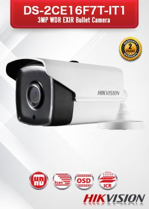 Hikvision 3MP WDR EXIR BulletCamera - DS-2CE16F7T-IT1