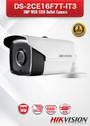 Hikvision 3MP WDR EXIR Bullet Camera - DS-2CE16F7T-IT3
