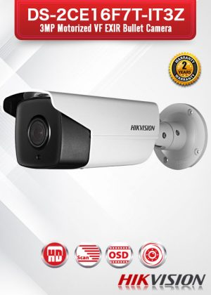 Hikvision 3MP Motorized VF EXIR Bullet Camera - DS-2CE16F7T-IT3Z