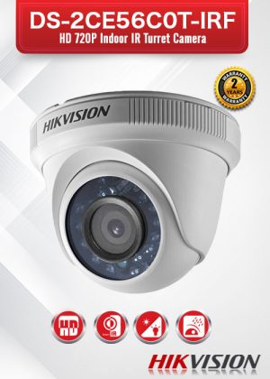 Hikvision HD720P Indoor IR Turret Camera - DS-2CE56C0T-IRF