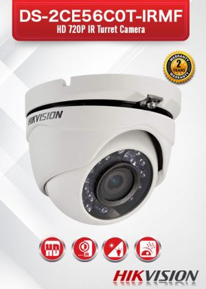Hikvision HD720P IR Turret Camera - DS-2CE56C0T-IRMF
