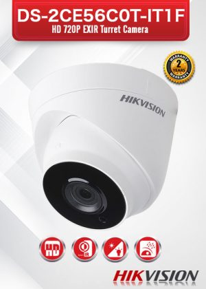 Hikvision HD720P EXIR Turret Camera - DS-2CE56C0T-IT1F