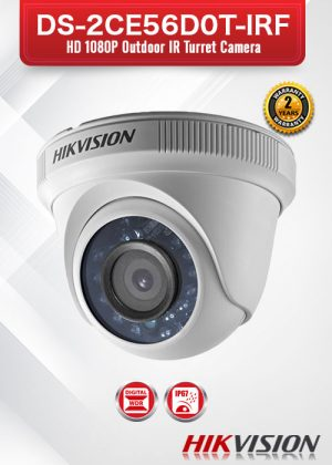 Hikvision HD1080P Outdoor IR Turret Camera - DS-2CE56D0T-IRF