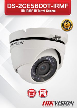 Hikvision HD1080P IR Turret Camera - DS-2CE56D0T-IRMF