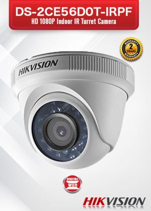 Hikvision HD1080P Indoor IR Turret Camera - DS-2CE56D0T-IRPF