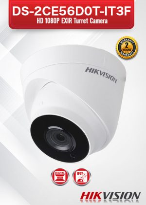 Hikvision HD1080P EXIR Turret Camera - DS-2CE56D0T-IT3F