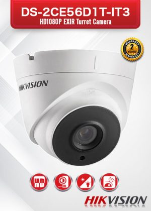 Hikvision HD1080P EXIR Turret Camera - DS-2CE56D1T-IT3