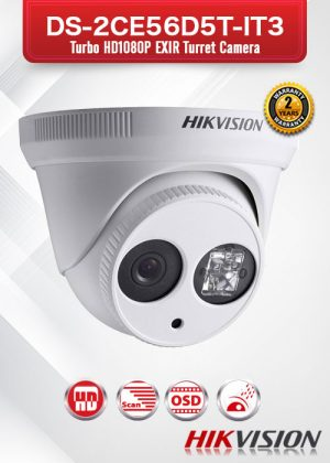 Hikvision HD1080p TurboHD EXIR Turret Camera - DS-2CE56D5T-IT3