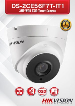 Hikvision 3MP WDR EXIR Turret Camera - DS-2CE56F7T-IT1