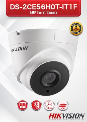 Hikvision 5 MP Turret Camera - DS-2CE56H0T-IT1F