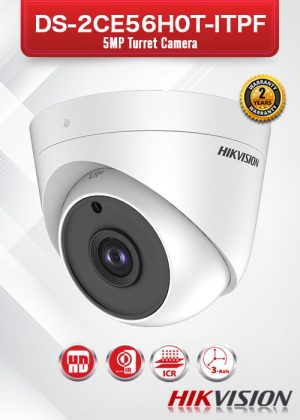 Hikvision 5MP Turret Camera - DS-2CE56H0T-ITPF