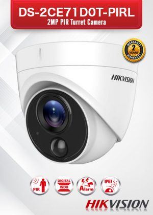 Hikvision 2 MP PIR Turret Camera - DS-2CE71D0T-PIRL