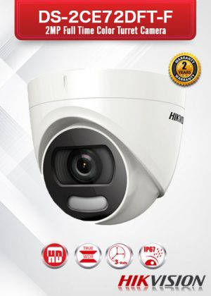 Hikvision 2MP Full Time Color Turret Camera - DS-2CE72DFT-F