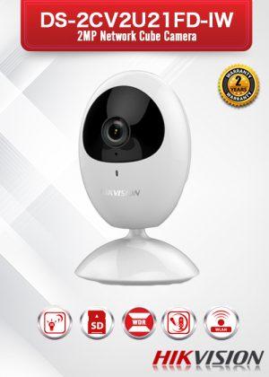 Hikvision 2MP Network Cube Camera - DS-2CV2U21FD-IW