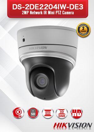 Hikvision 2.0 MP Network IR Mini PTZ Camera - DS-2DE2204IW-DE3