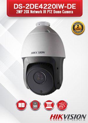 Hikvision 2MP 20X Network IR PTZ Dome Camera - DS-2DE4220IW-DE