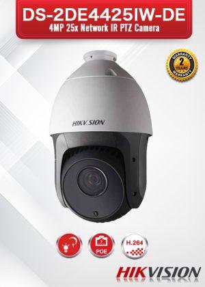 Hikvision 4MP 25x Network IR PTZ Camera - DS-2DE4425IW-DE