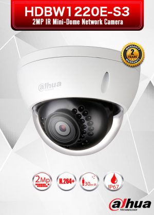 Dahua 2MP IR Mini-Dome Network Camera - HDBW1220E-S3