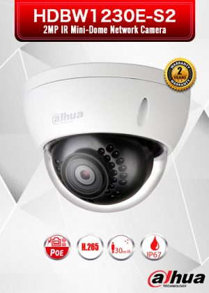 Dahua 2MP IR Mini-Dome Network Camera - HDBW1230E-S2