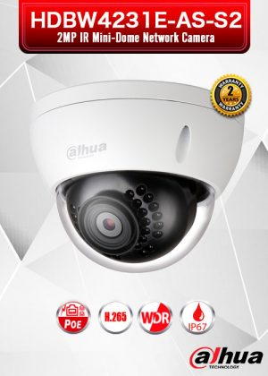 Dahua 2MP IR Mini Dome Network Camera - HDBW4231E-AS-S2