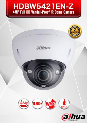 Dahua 4MP HD WDR Network Vandal-proof IR Dome Camera - DH-IPC-HDBW5421E-Z