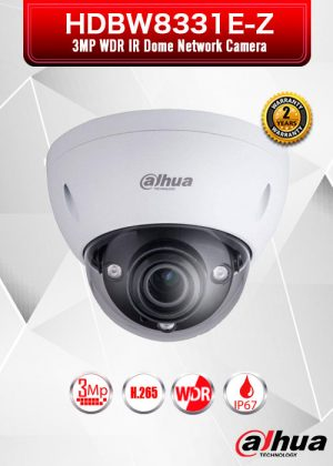 Dahua 3MP WDR IR Dome Network Camera - HDBW8331E-Z