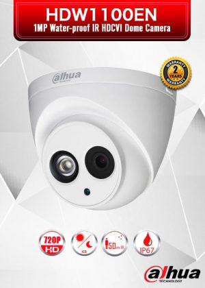 Dahua 1MP 720P Water-proof IR HDCVI Dome Camera / HDW1100EN