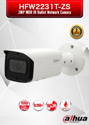 Dahua 2MP WDR IR Bullet Network Camera - HFW2231T-ZS