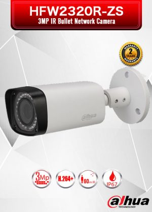 Dahua 3MP IR Bullet Network Camera - HFW2320R-ZS