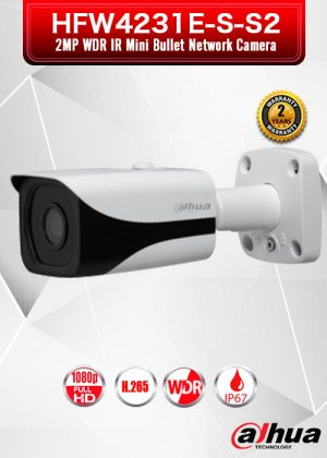 Dahua 2MP WDR IR Mini Bullet Network Camera - HFW4231E-S-S2