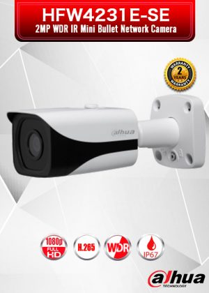 Dahua 2MP WDR IR Mini Bullet Network Camera - HFW4231E-SE