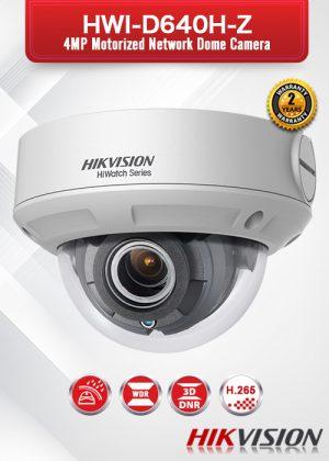 Hikvision 4.0 MP Motorized Network Dome Camera - HWI-D640H-Z