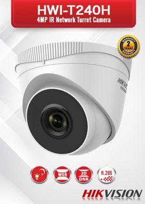Hikvision 4.0 MP IR Network Turret Camera - HWI-T240H
