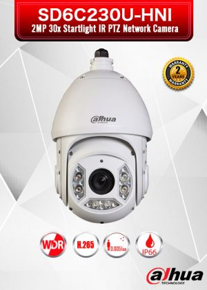 Dahua 2MP 30x Starlight IR PTZ Network Camera - SD6C230U-HNI